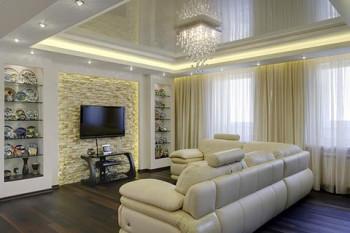 Элементы конструкции подвесных потолков
